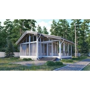 Дом из ЛВЛ бруса «Ильинка-72»